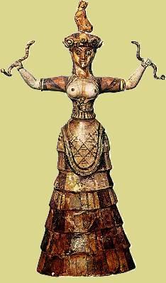 Богиня змей. XVI. в до н.э.
