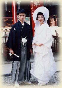 Tsuno,Kakushi, bandeau nuptial, et tenues traditionnelles de mariage.